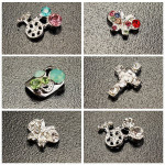 10PCS Skull Crucifix Crystal Metal Shiny Manicure Nail Art Decoration