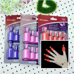 10PCS UV Gel Polish Remover Soak Wearable Nail Soakers Nail Tools