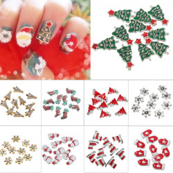 10Pcs 3D Christmas Glitters Rhinestones DIY Nail Art Decoration