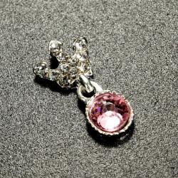 10Pcs Shiny Crystal Rhinestone Alloy Crown Nail Art Tips Decoration