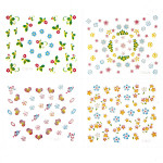10Sheets 3D Flowers Mixed Nail Art Transfer Stickers Nail Art