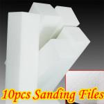 10X White Nail Art Buffer Buffing Sanding Files Block Nail Art