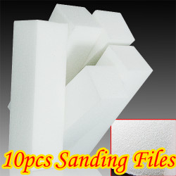 10X White Nail Art Buffer Buffing Sanding Files Block