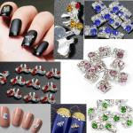 10pcs 3D Nail Art Phone Crystal Rhinestone Stick Drill DIY Decoration