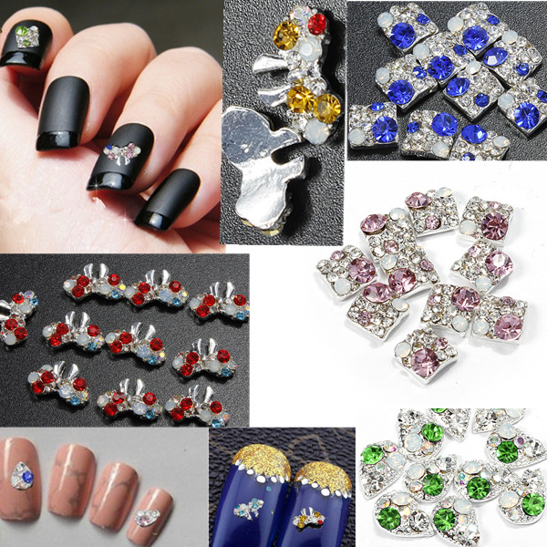 10pcs 3D Nail Art Phone Crystal Rhinestone Stick Drill DIY Decoration Nail Art