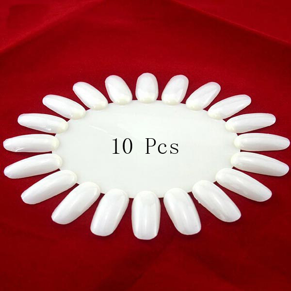 10pcs Acrylic UV Nail Art Polish Display Practice Wheel
