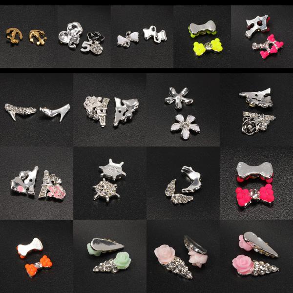 10pcs Metal Rhinestones Crystal 3D DIY Nail Art Tip Decoration Nail Art