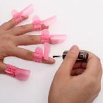 10x Cute Nail Art Tips Nail Polish Protection Clipper