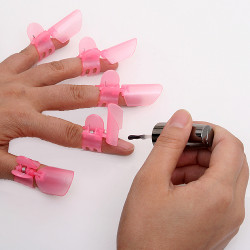 10x Cute Nail Art Tips Nail Polish Protection Clipper