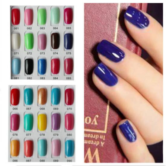 120 Color Nail Art Soak off LED UV Gel Polish 15ML 061-090 2021