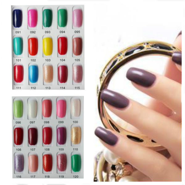 120 Color Nail Art Soak off LED UV Gel Polish 15ML 091-120 Nail Art