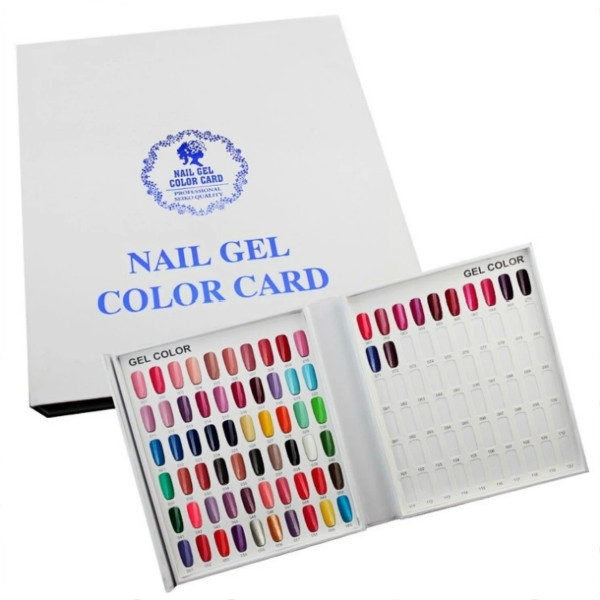 120 Colors Nail Polish Display Chart UV Gel Color Card Nail Art