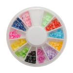 12 Color Bow Tie Slice Arylic Nail Art Decoration Wheel Nail Art