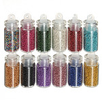 12 Color Nail Art Tips Caviar Beads Balls Manicure Decoration Nail Art