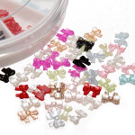 12 Colors 3D Bowknot Design Nail Art Decoration Wheel Nail Art