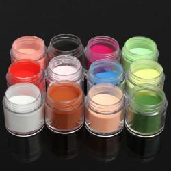 12 Colors Acrylic Manicure Nail Art Powder Dust Decoration