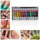 12 Colors Acrylic Nail Art Paint Set With Nail Art Brush Pen 2021