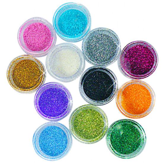 12 Colors Acrylic Nail Art Tips Glitter Powder Dust 2021