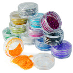 12 Colors Acrylic Nail Art Tips Glitter Powder Dust Nail Art
