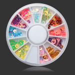 12 Colors DIY Nail Art Decoration Wheel Nail Art
