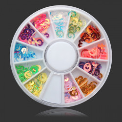 12 Colors DIY Nail Art Decoration Wheel