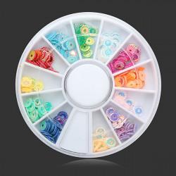 12 Colors Embossing DIY Nail Art Decoration Wheel