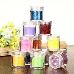 12 Färger Fashion Färgglada Nagelkonst Glitter Pulver Dekoration