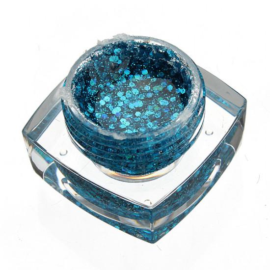 12 Colors Glitter Acrylic Nail Art UV Gel Builder 2021