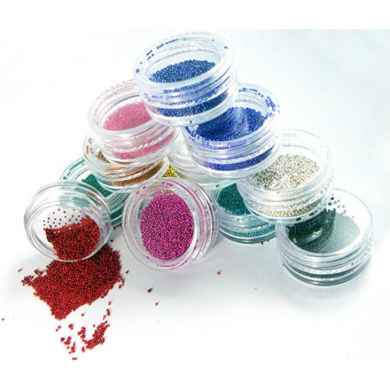12 Colors Mini Beads Pearls Nail Art Tips Decoration 2021