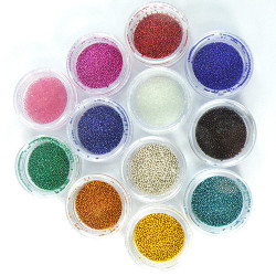 12 Colors Mini Beads Pearls Nail Art Tips Decoration