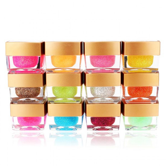 12 Colors Nail Art UV Builder Gel Glitter Acrylic Set 2021