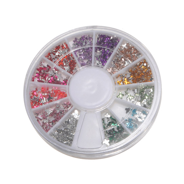 12 Colors Nail Rhinestone Wheel Nail Art