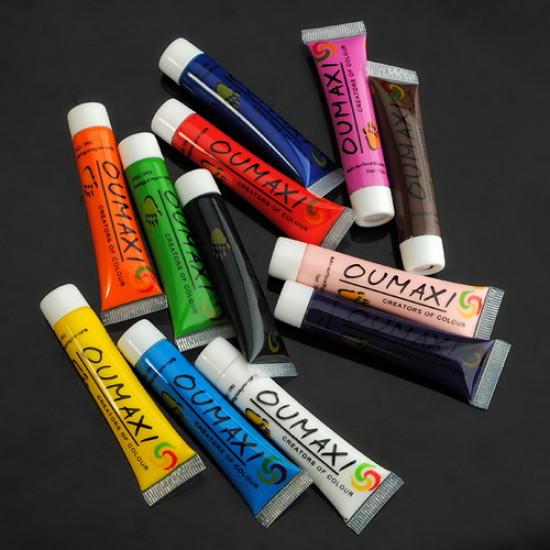 12 Colors Paint Nail Art Painting Pigment Tips Tube Set 2021