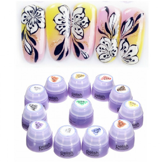 12 Colors Phototherapy Nail Art Design Painting Drawing Gel 2021