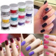 12 Colors Velvet Flocking Nail Art Design Powder Decoration 2021
