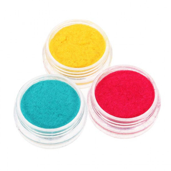 12 Colors Velvet Powder Dust Nail Art Tool Decoration Set 2021