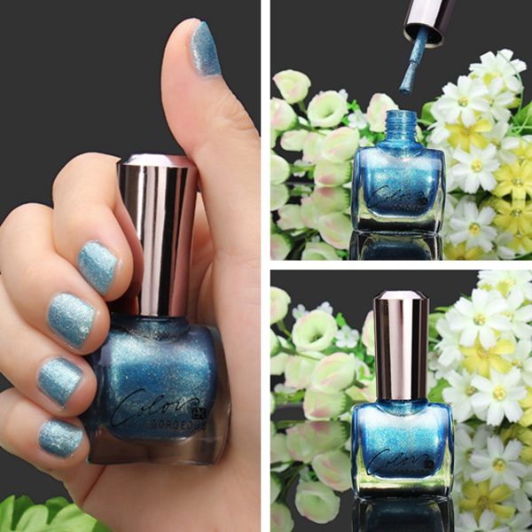 12ML Metal Color Blue Nail Art Varnish Polish Nail Enamel Nail Art