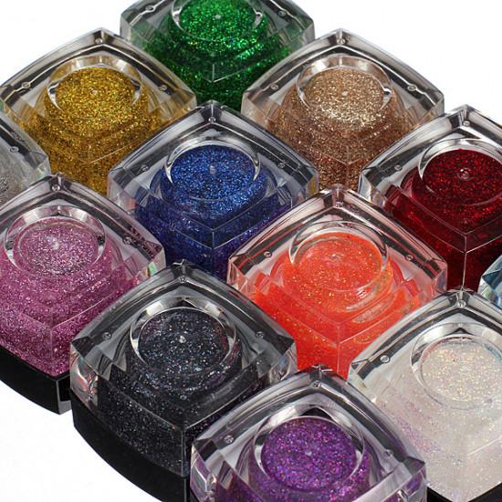 12 Mix Colors Tiny Acrylic UV Gel Builder Nail Art Decorations 2021