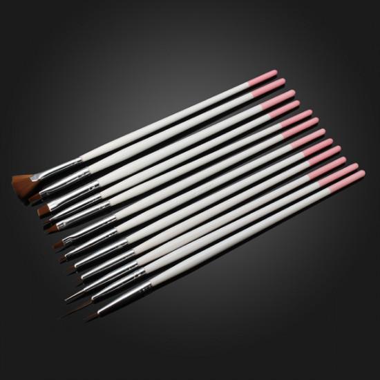 12 PCS Nail Art Design Painting Drawing Dotting Brush Set 2021