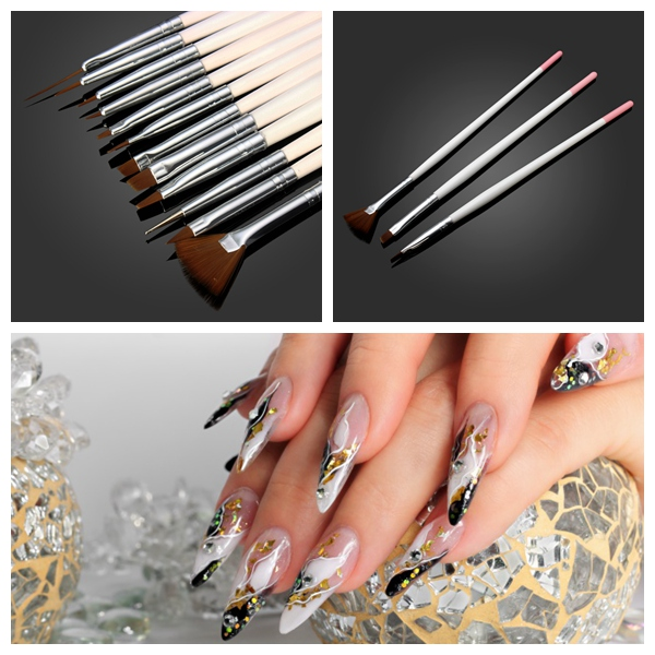 12 PCS Nail Art Design Painting Drawing Dotting Brush Set Nail Art