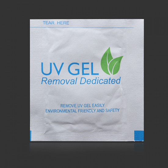 12Pcs Environmental Acrylic UV Gel Nail Polish Wipes Remover Pads 2021