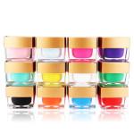 12 Pots Color 3D Nail Art Crystal Glaze Solid UV Gel Builder 8ml Nail Art