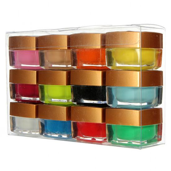 12 Solid Color Acrylic UV Gel Builder Nail Art DIY Decoration 2021