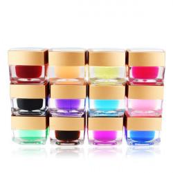 12 Solid Color Acrylic UV Gel Builder Nail Art DIY Decoration