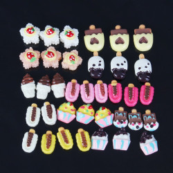 12 Styles 3D Resin Cute Cake Popsicle Nail Art Phone Decoration
