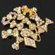 12 Styles Gold Bowknot Rhinestone Metal Nail Art Decoration Wheel 2021