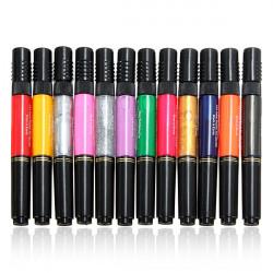 12 or 24PCS Mix Colors Nail Art Varnish Polish Brush Pen Set Kit