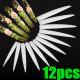 12pcs 3D acrylic point milky French false nail art tips 2021