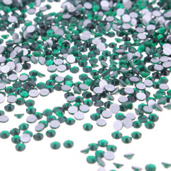 1440Pcs Dark Green Crystal Rhinestones Nail Art Tips Decoration