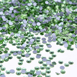 1440Pcs Light Green Crystal Rhinestones Nail Art Tips Decoration